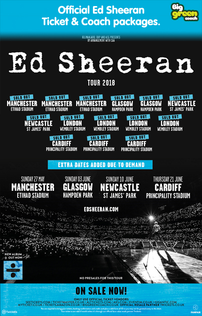 Ed Sheeran 2018 Tour